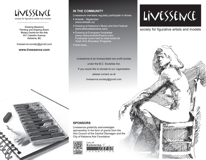 Livessence, Brochure, art, life drawing
